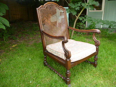 Walnut  antique bergere armchair