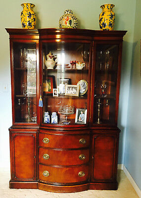 Drexel Mahogany Curved Bowfront China Cabinet VINTAGE