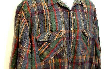 Levis mens wool shirt XL Sutter Creek Vintage plaid Button Up Flannel faded