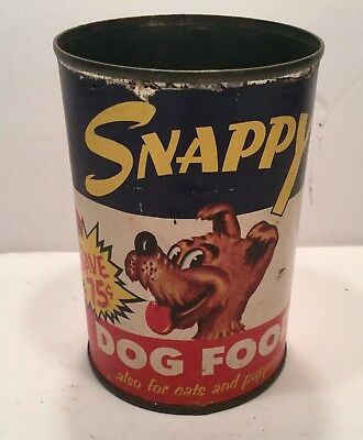 Rare Vintage 1940's Dog Food Can Paper Label Advertising Character Packaging