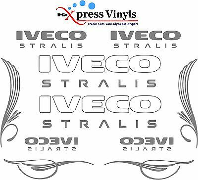 IVECO Stralis truck decals MEGA PACK vinyl glass and body stickers