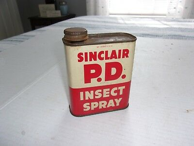 Very Rare Vintage Sinclair Refining Company P.D. Insect Spray Advertising Tin