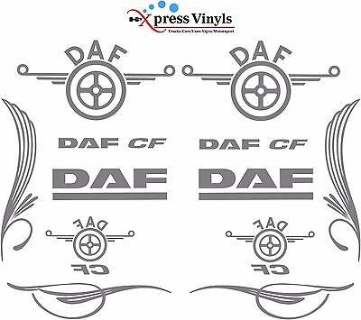 DAF CF truck decal MEGA PACK vinyl classic style glass and bodywork stickers
