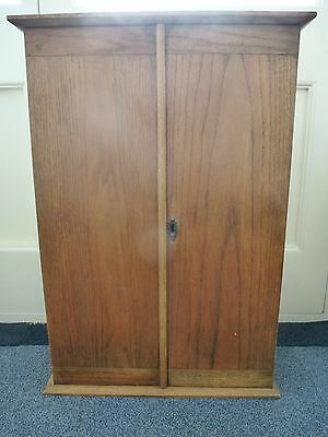 Antique Pine Tool Cupboard - absolutely beautiful - original makers label inside