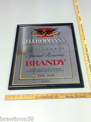 Fleischmann's beer sign brandy bar signs 1 Five Star liquor California RB5