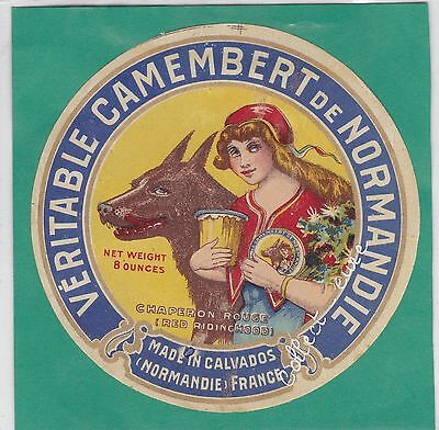 K353 Fromage Camembert Chaperon Rouge Calvados Normandie Loup
