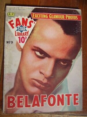 """Harry Belafonte.""  Fans' Star Library No 9.  1958"