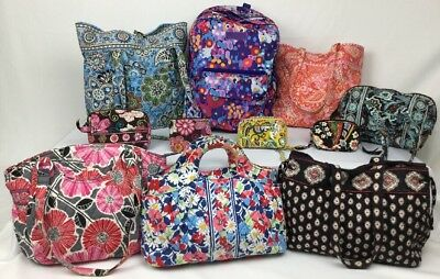 Vera Bradley Purses Backpack Shoulder Bag Tote Wristlet Accessories Lot of 11