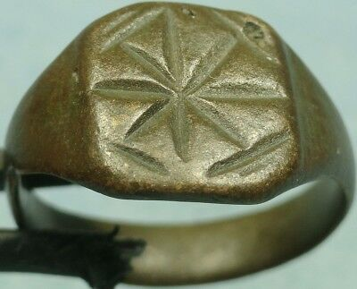 Byzantine Bronze Shield Ring