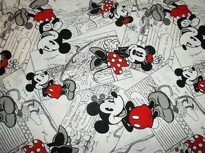 New Hand Made Micky Mouse Minnie Mouse New's Print Fitted Crib/Toddler Sheet