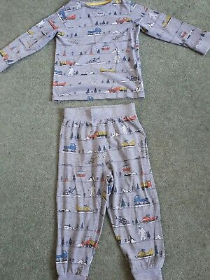 Fab Baby Boys M&S Grey Transport Printed Pyjama Set, , age 2-3 years