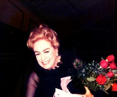 Joan Crawford In The 60's Adorned In Roses    8X10 Photo 3455