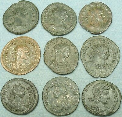 Lot Of 9 Roman Bronze Coins