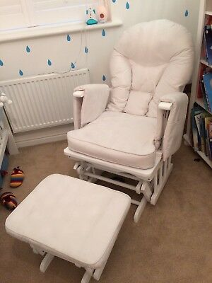Nursing rocking glider chair and foot stool