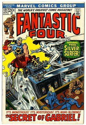Fantastic Four #121 VF+ 8.5  Silver Surfer app.  Marvel  1972  No Reserve