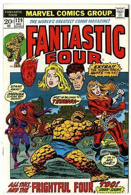 Fantastic Four #129 VF/NM 9.0  vs. The Frightful Four  Marvel  1972  No Reserve