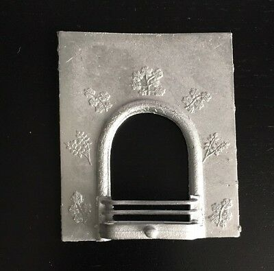 Whiet Metal Fireplace, Dolls House Miniature, Metal Fire, 1:12 Scale