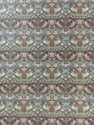 Wallpaper Strawberry Thief William Morris Design Doll House Miniature