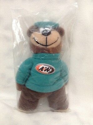 Vintage A&W Root Beer Bear BEANIE PLUSH PROMO 1998 AW