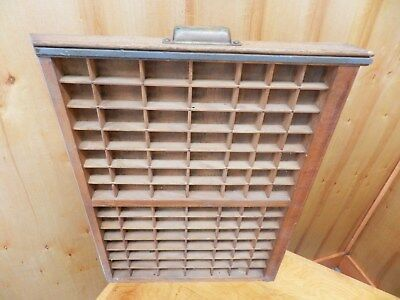 Vintage Printers Drawer Wood Tray Letterpress Type 22 X 16