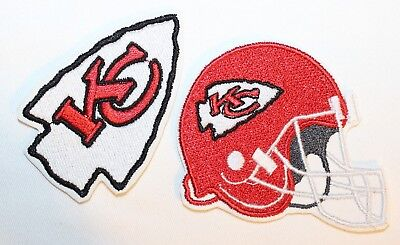 NFL Kansas City Chiefs Embroidered Iron-on Patch FREE SHIP