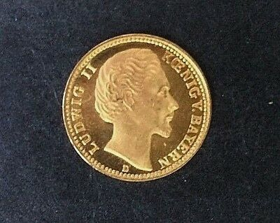 Others Ask $550!!! 1877 German Empire Gold Coin Ludwig Ii King Of Bavaria 5 Mark