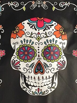 LARGE Day Of The Dead Dia Muertos XL Tote Bag Shopping Halloween NWT!
