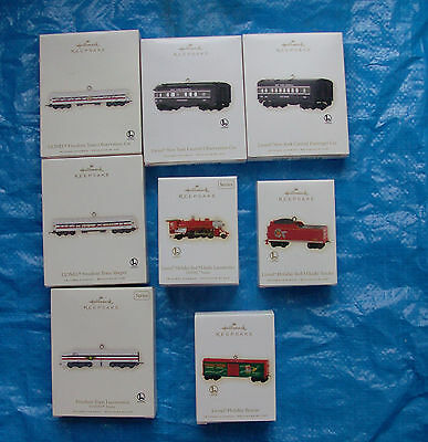 Hallmark Keepsake Christmas Ornaments Lionel Train Diecast Lot of 8 NIP
