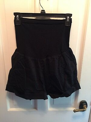 Oh Baby by Motherhood Black Maternity Shorts Size XL