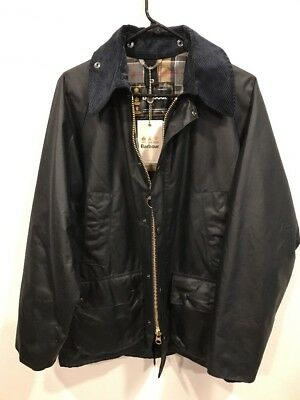 New Barbour Bedale Thornproof Waxed Jacket | Size 38 | Navy | Made In England