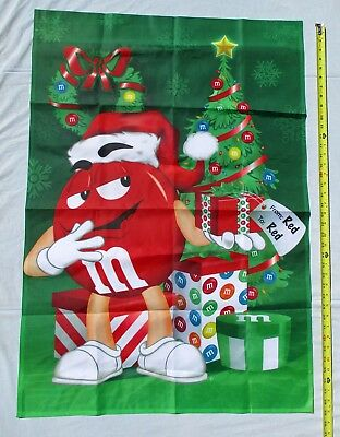 Red M & M Candy Large Christmas Garden Flag by Willabee & Ward 2009