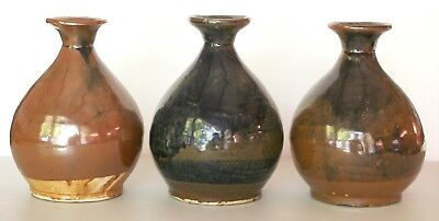 """Set of 3 Chinese """"Tiger Whiskey"""" Jugs - circa 1870-1900 California - Exc. Cond."""