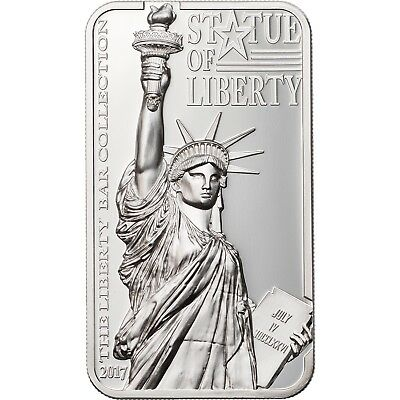 2017 $10 Cook Islands Statue of Liberty 2oz .999 Silver Coin