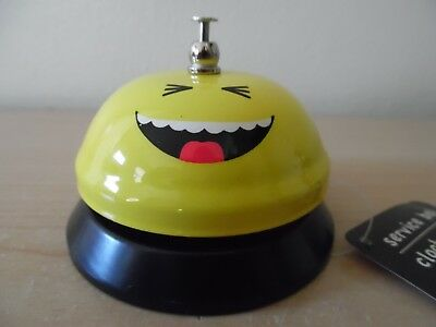 Laughing Smiley Face Emoji Service Bell~New~Free Ship