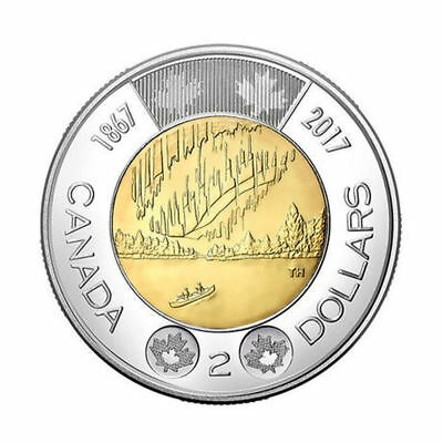 2017 Canada   Toonie,  $2 Two Dollar DANCE OF SPIRITS 150e anniversary