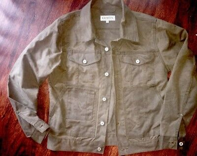 Gustin Waxed Cotton Trucker Jacket S Canvas Duck