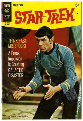 Star Trek #6 VF 8.0 white pages  Photo Cover  Gold Key  1969  No Reserve