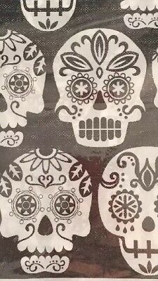 "Day Of The Dead Dia Muertos Flannelback Tablecloth Tablecover 52x70"" Sugar Skull"