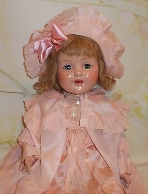 "Madame Alexander 24"" Compositiion & cloth DOLL TAGGED dress & coat set Beautiful"