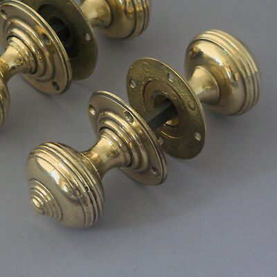Victorian Antique Brass Door Knobs