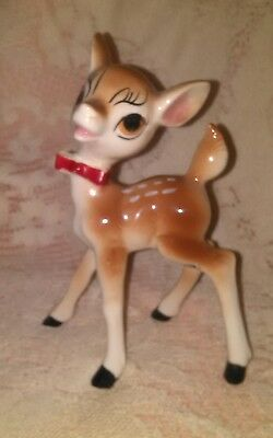 Vintage Porcelain Big Eyes Reindeer JAPAN Early Rudolph the Reindeer??