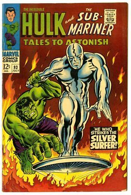Tales to Astonish #93 VF+ 8.5  Silver Surfer vs.  Hulk  Marvel  1967  No Reserve