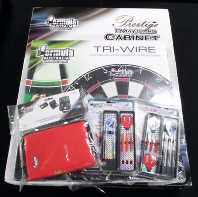 Deluxe Starter Dartboard Pack Including Darts, Cabinet, Case And Board