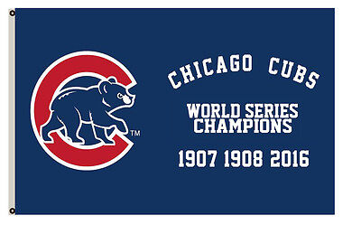Chicago Cubs World Series Champions flag Size 3X5 Feet Banner A01