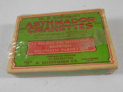 Antique Asthmador Cigarettes Asthma With Contents Quack Medicine Dr Schiffmann's