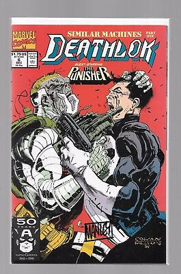 DEATHLOK 6 SIGNED BY MIKE MANLEY Punisher Silvermane Michael Collins MARVEL 1991