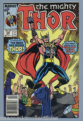 Thor #384 1987 Newsstand 1st Appearance Future Thor Tom DeFalco Ron Frenz H