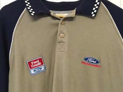 Vintage Ford Polo Shirt, Men's Size XXL 2XL Official Ford Racing Shirt, RARE