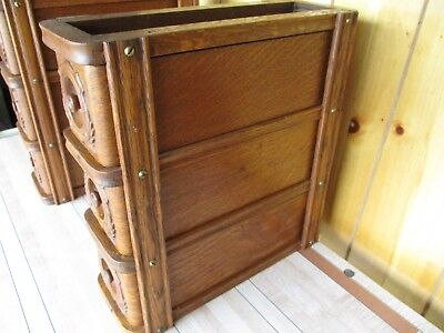(6) Antique Vtg. old Wheeler Wilson treadle sewing machine oak wood drawers