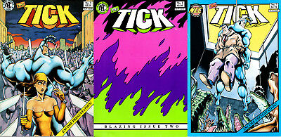 The Tick 3 issue Power-Pack! New TV show by Ben Edlund. Hilarious. FREE SHIPPING